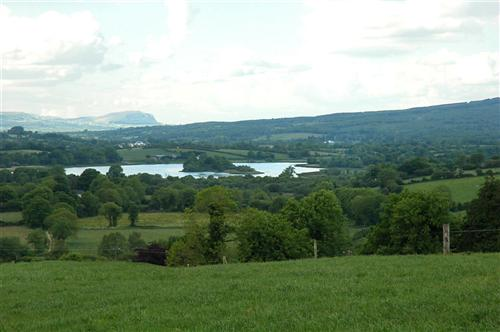 Templeport Lake with St Mogue's Island from Darragh Fort