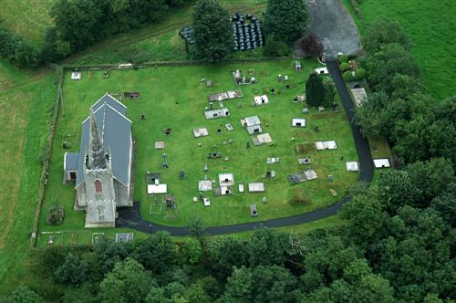 St OPeter's Church from the air
