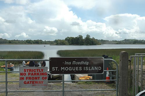 St Mogue's Island in Templeport Lake from the slipway